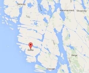 Jordkjellarane ligg på ei lita øy vest i Sund kommune.